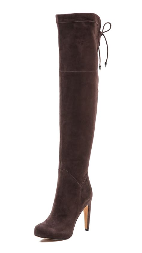 sam edelman the knee boots sam edelman the knee boots in brown lyst