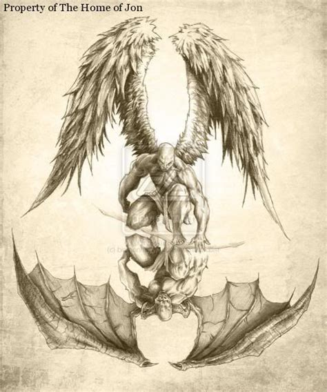 angel demon tattoos for men and demons designs half sleeve
