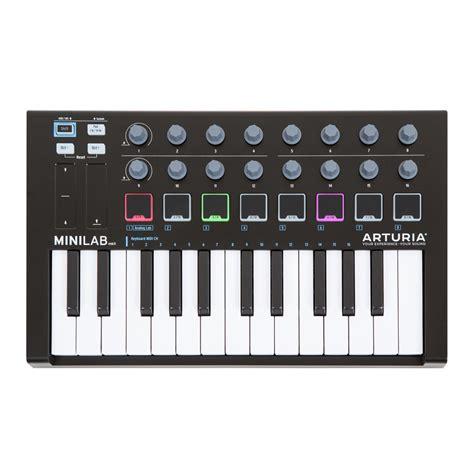 Arturia Minilab Mk2 arturia minilab mk2 black midi keyboard 25 key dj city