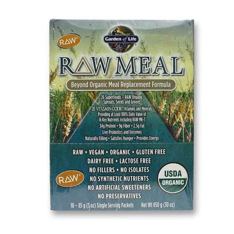 Garden Of Meal Replacement Ingredients Garden Of Meal Original 10 3 Oz Packets