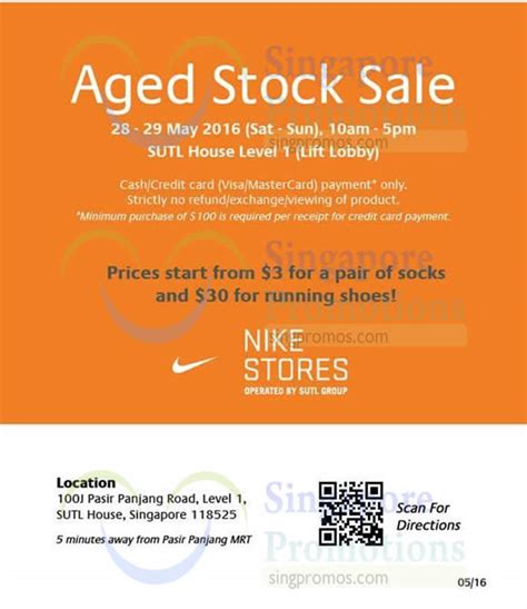 Standard Sing Crome Panjang Per sutl nike clearance of aged stock sale from 28 29 may 2016