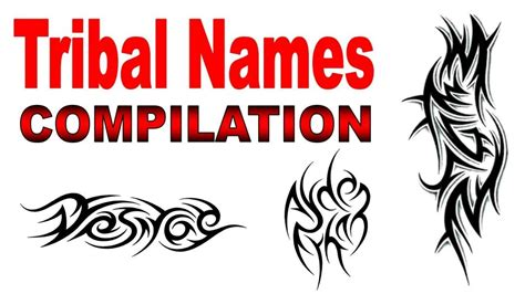 tribal tattoo names tribal names designs compilation by jonathan