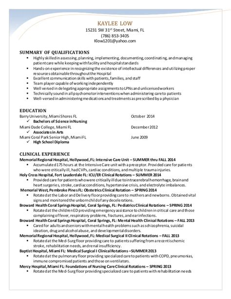 s nursing resume 2014