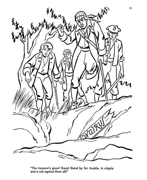 treasure island coloring pages coloring home