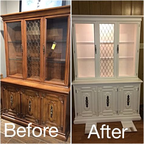 white chalk paint cabinets image result for before after chalk painted china cabinet
