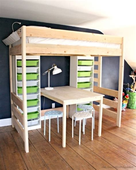 table with bed underneath diy loft bed with desk and storage bunk bed with table