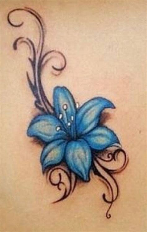 lilies and butterfly tattoo designs blue flower tattoos picture flowers