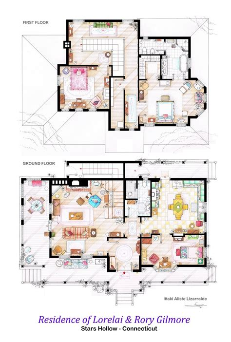 Tv House Floor Plans | floor plans of homes from famous tv shows