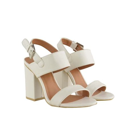 white chunky heel sandals white faux leather chunky block heel strappy