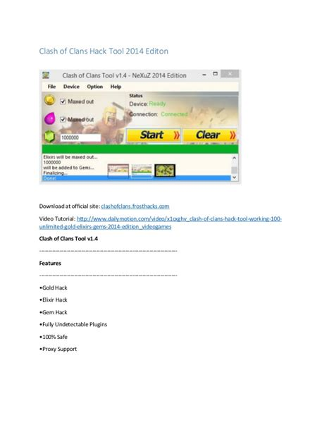 tutorial hack online clash of clans clash of clans hack tool 2014 editon 100 working with proof