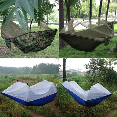 hanging tent portable high strength 250cm x 120cm parachute fabric hammock tent hanging bed mosquito outdoor