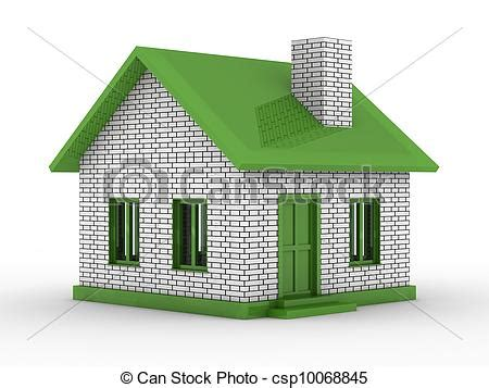 drawing with 3d house stock illustration image of drawing of small house on white background isolated 3d