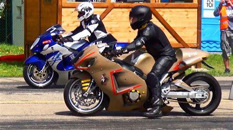 Suzuki Bike Racing Free Suzuki Hayabusa Vs Hayabusa 1 4 Mile Drag Race Motorrad