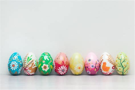 handmade easter eggs collection photos on