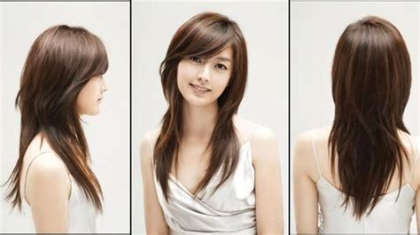 side swept bangs oblong face side swept bangs and long layers beauty fashion