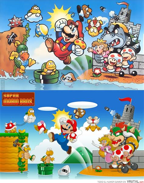Kaos Mario Bross Mario Artworks 04 vrutal b 250 squeda de castillo en vrutal