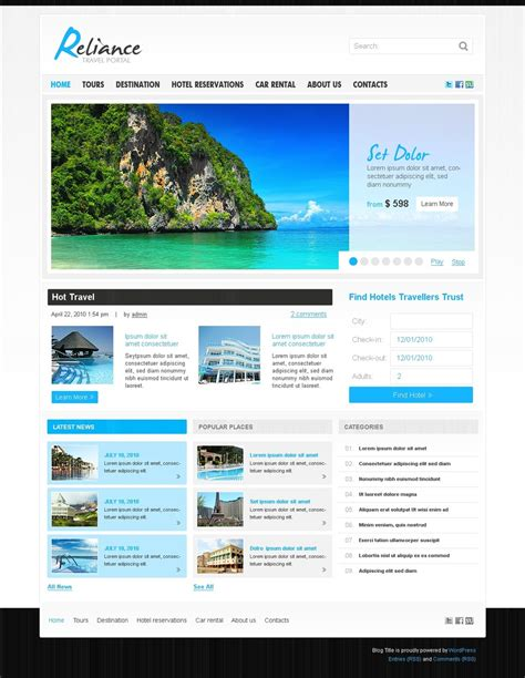 wordpress layout guide travel guide wordpress theme 28831