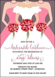 invitations for bridesmaids luncheon wording bridesmaids luncheon invitation bridal brunch invitation