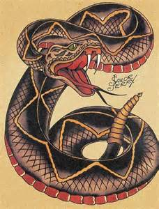 sailor jerry snake tattoo flash kysa ink design