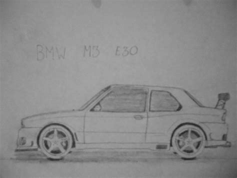 drift cars drawings bmw m3 e30 driftcar car drawing by danchix on deviantart