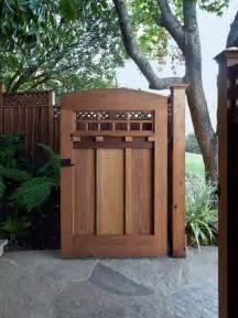 Wooden gate door transformation into craftsman gem architecture