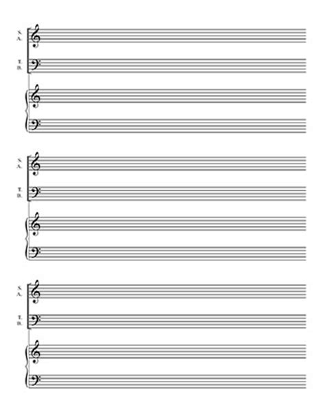 piano sheet template blank sheet satb choir on 2 lines and piano