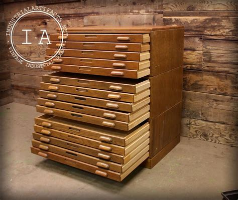 Blueprint Flat File Cabinet by Industrial 15 Drawer Hamilton Flat File Blueprint Cabinet