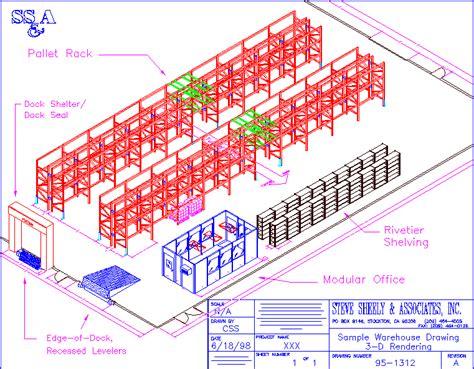 warehouse yard layout steve sheely associates inc material handling equipment