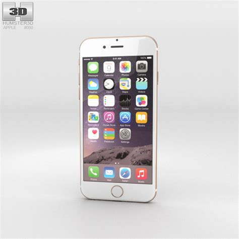 3 iphone models apple iphone 6 gold 3d model electronics on hum3d