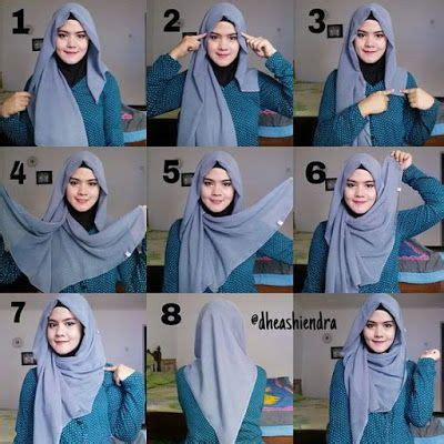 tutorial hijab simple segi empat 25 best ideas about hijab tutorial segi empat on