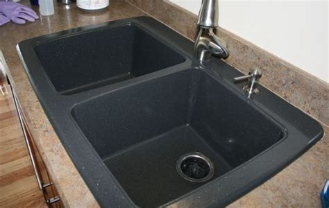 How To Clean A Black Kitchen Sink Battle Of The Black Granite Composite Sink Whimsy Gal