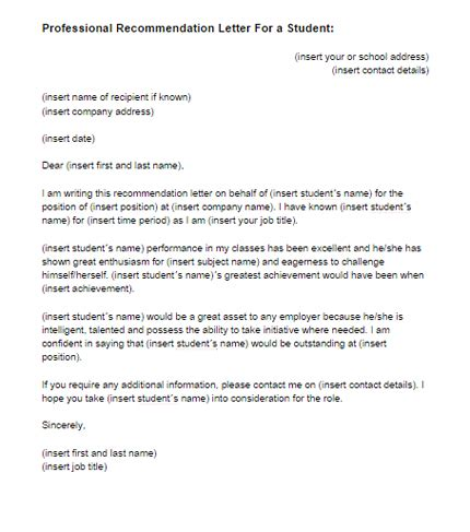 sample letter recommendation high school art student