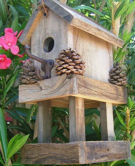 rustic birdhouse feeder birdie fly on home exotic birds
