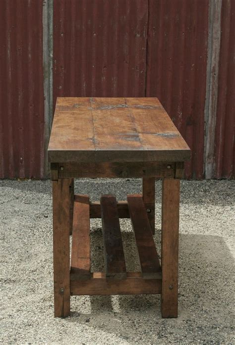 rustic island bench rustic vintage style industrial workbench table kitchen
