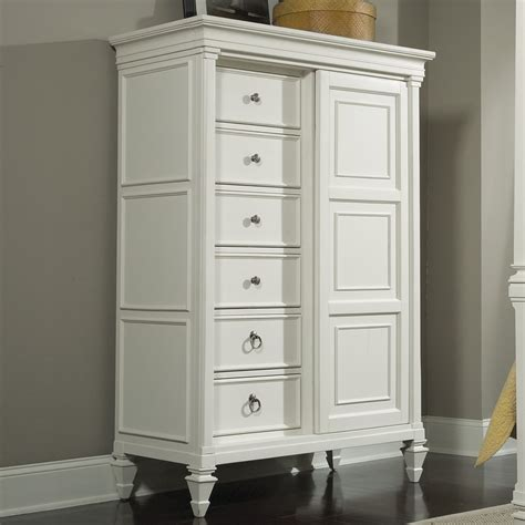 Chest With Drawers And Doors by Ashby Wood Eight Drawer Chest With Sliding Door In White