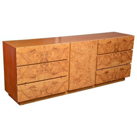 Burl Wood Dresser by Burl Wood Dresser By Milo Baughman For Usa 1970s At