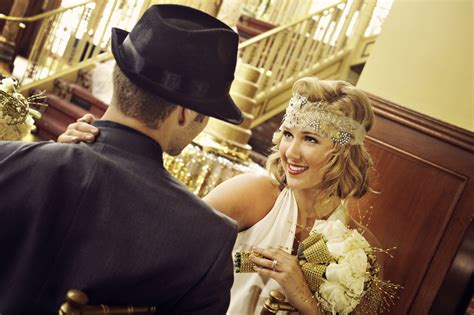 explain the theme of the great gatsby great gatsby wedding theme bride and groom onewed com