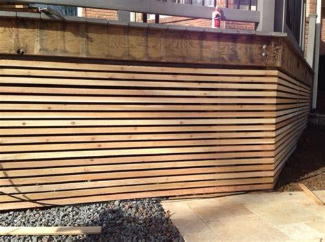 modern deck lattice backyard pinterest posts doors