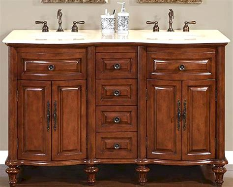 ivory bathroom vanity silkroad 55 quot double bathroom vanity crema marfil top
