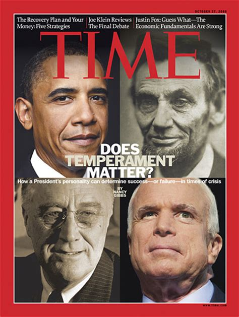 abraham lincoln and barack obama time magazine cover does temperament matter oct 27