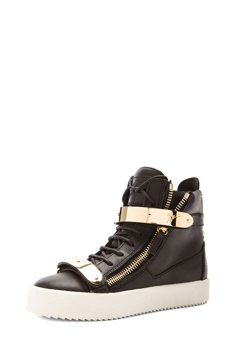 giuseppe sneakers giuseppe zanotti leather bucked sneakers in black lyst