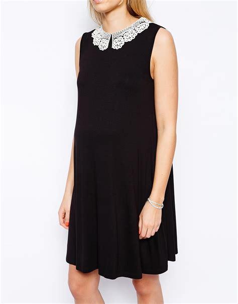collar swing dress asos maternity sleeveless swing dress with crochet collar