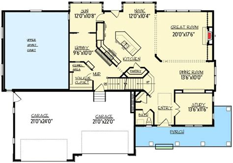 open floor plan farmhouse 30081rt 2nd floor master 200 best if we were to build images on pinterest