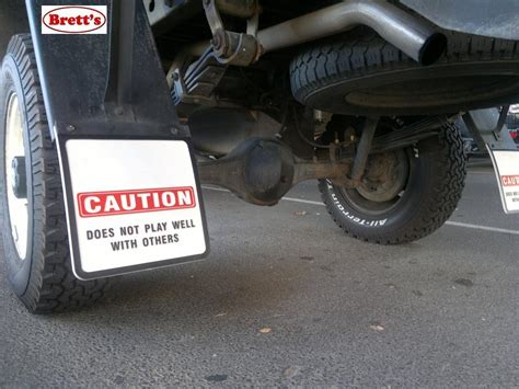 boat trailer mud flaps mud9001 caution does not play well with others 10 quot x 9