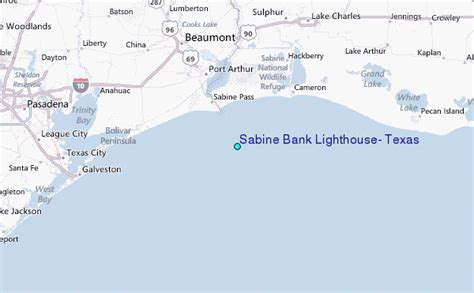 texas lighthouses map sabine bank lighthouse texas tide station location guide