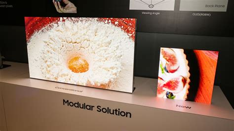 samsung shrinks  wall microled modular tv    inches  ces cnet
