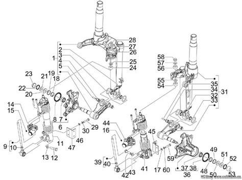 Motorrad Gabel Bestandteile piaggio bestandteile der gabel mp3 125 ibrido mp3 125