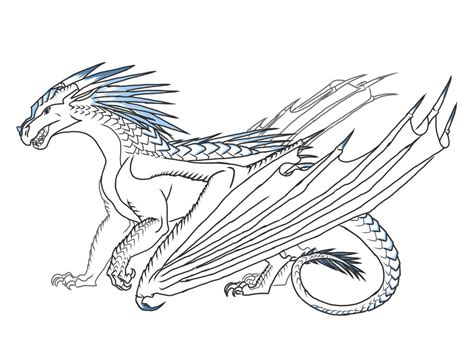 dragon wings coloring page wings of fire rainwing dragon coloring pages wings best
