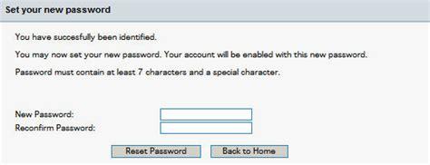 reset sbh online password user reset password page