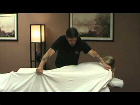 massage draping techniques massage draping video youtube